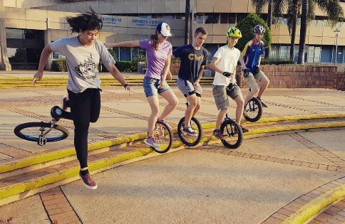Unicyclists at UP