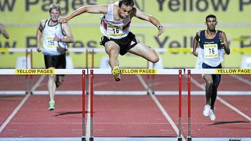 UP hurdles: LJ van Zyl and Le Roux Hamman