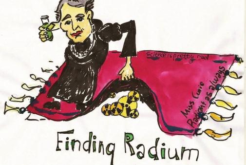 A radioactive woman