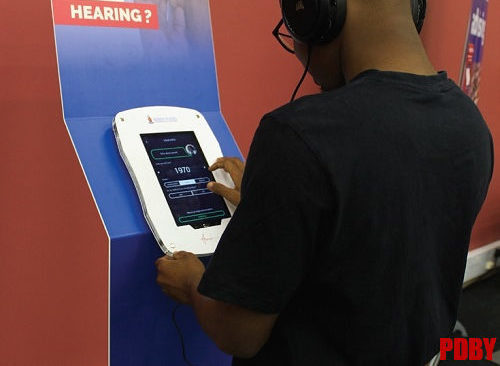 World Hearing Day features hearing test kiosk