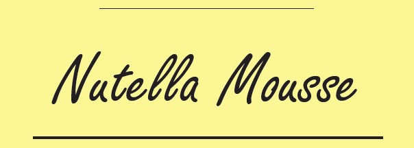 Nutella Mousse Recipe